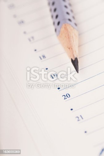 istock Pencil and organizer 163655069