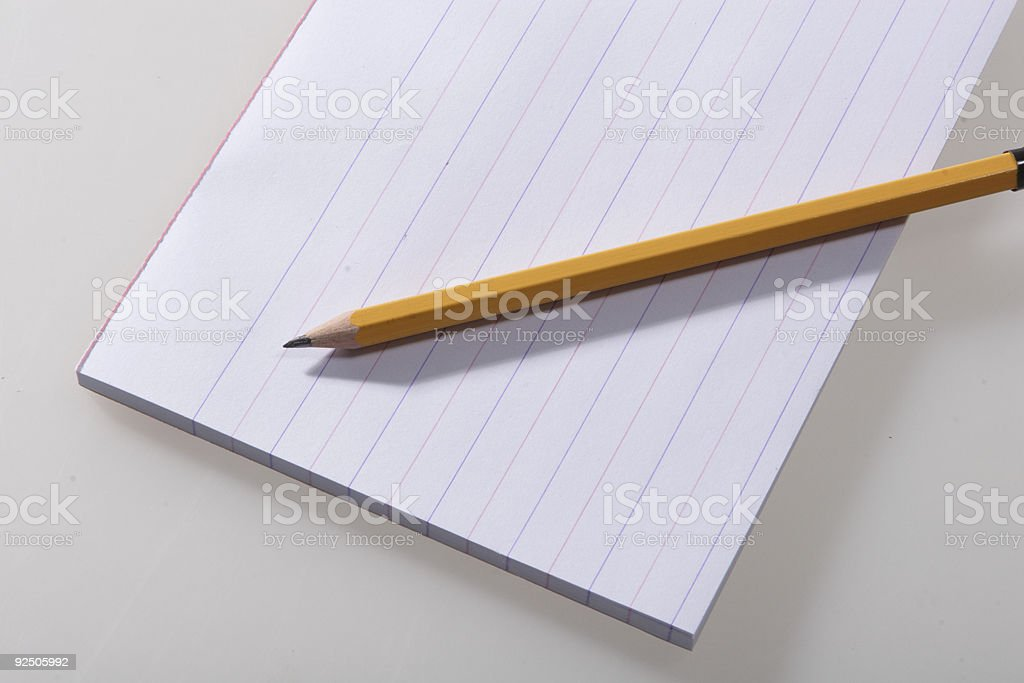 pencil and pad paper royalty-free stock photo