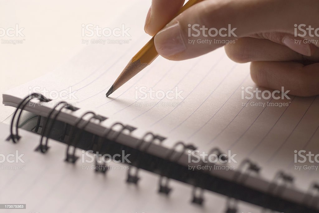 Pencil and Spiral notebook royalty-free stock photo