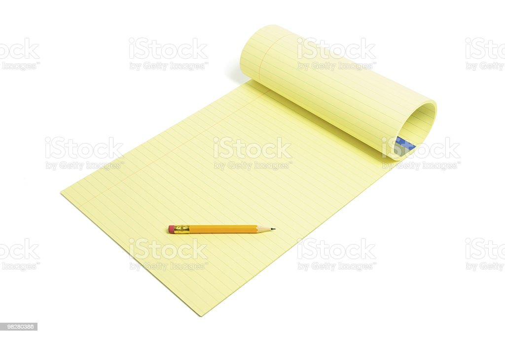 Pencil and Writing Pad royalty-free stock photo