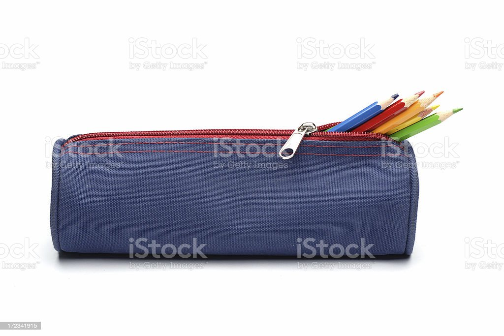 Astuccio per matite di colore - foto stock