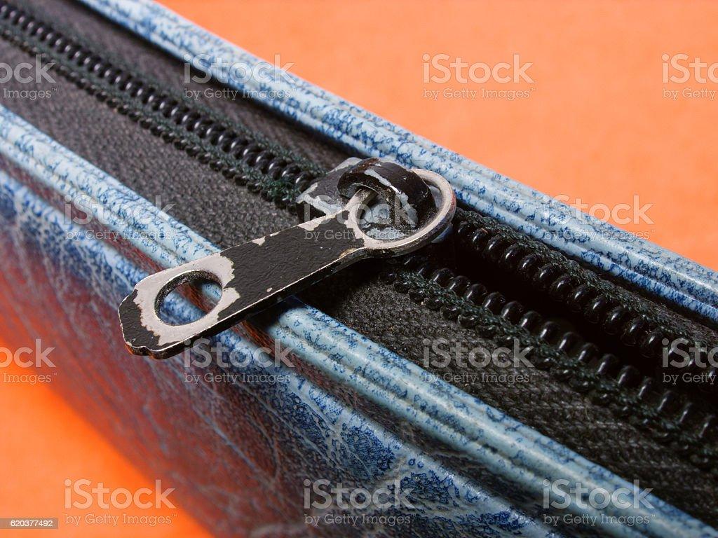 Pencil case zipper zbiór zdjęć royalty-free