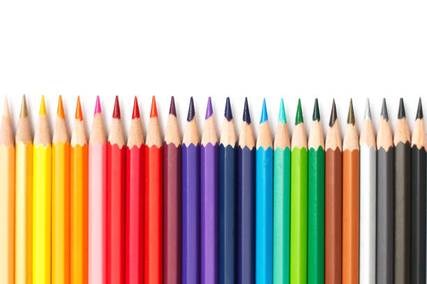 pencil color on isolate background. pencil color on isolate background. crayon stock pictures, royalty-free photos & images