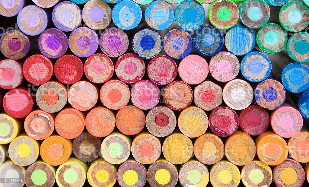 pencil crayon macro stock photo