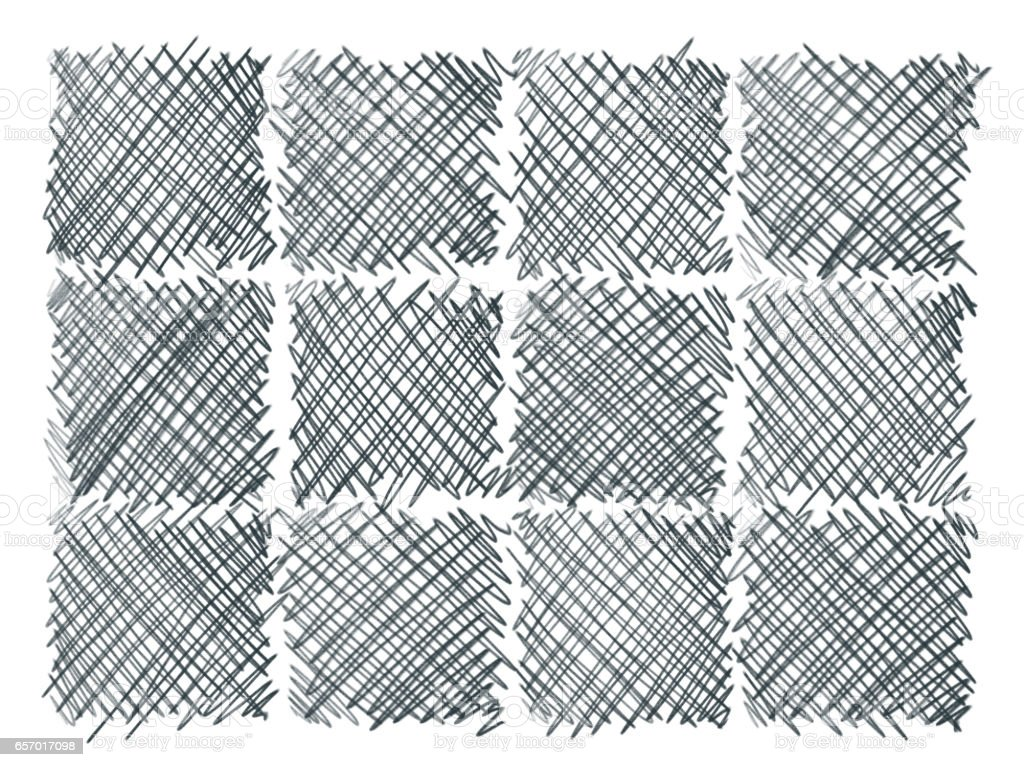 pencil cross hatching. stock photo