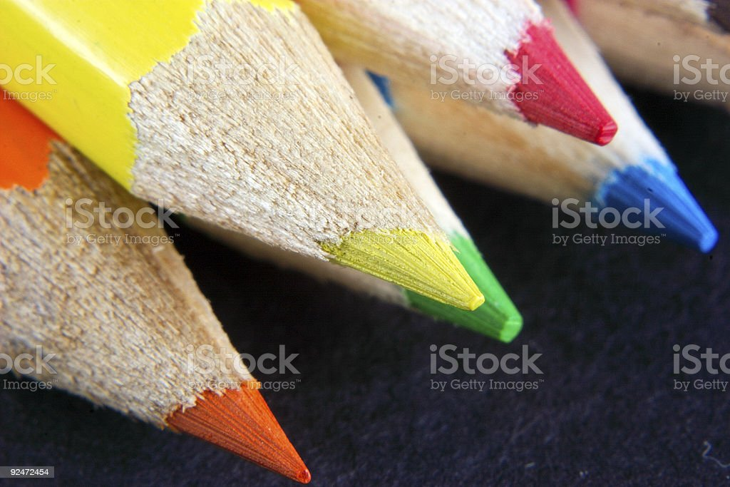 crayon points royalty-free stock photo