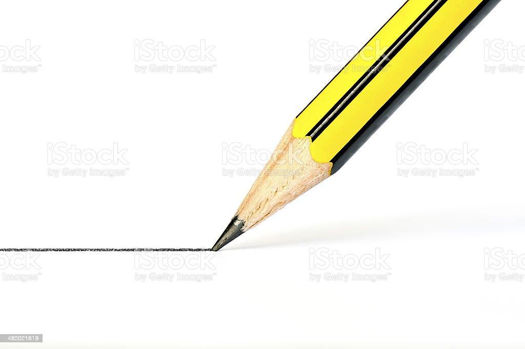 Fotografía de Dibujo A Lápiz Negro De Línea Recta En Un Libro Blanco ...