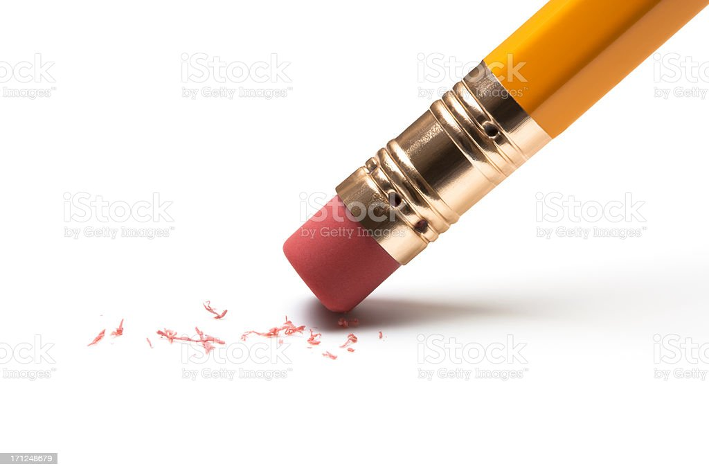 Pencil Eraser stock photo