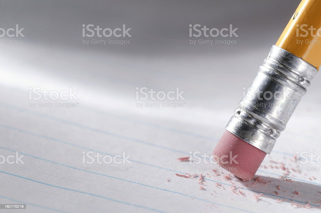 Close up of pencil eraser on lined paperTo see more of my education...