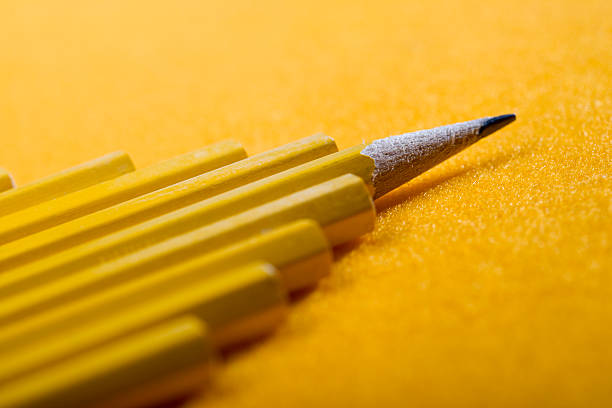 Pencil Formation stock photo
