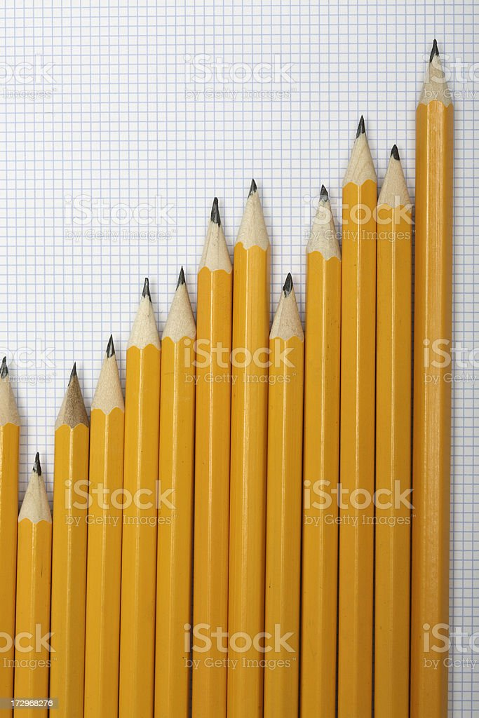 Pencil Graph royalty-free stock photo