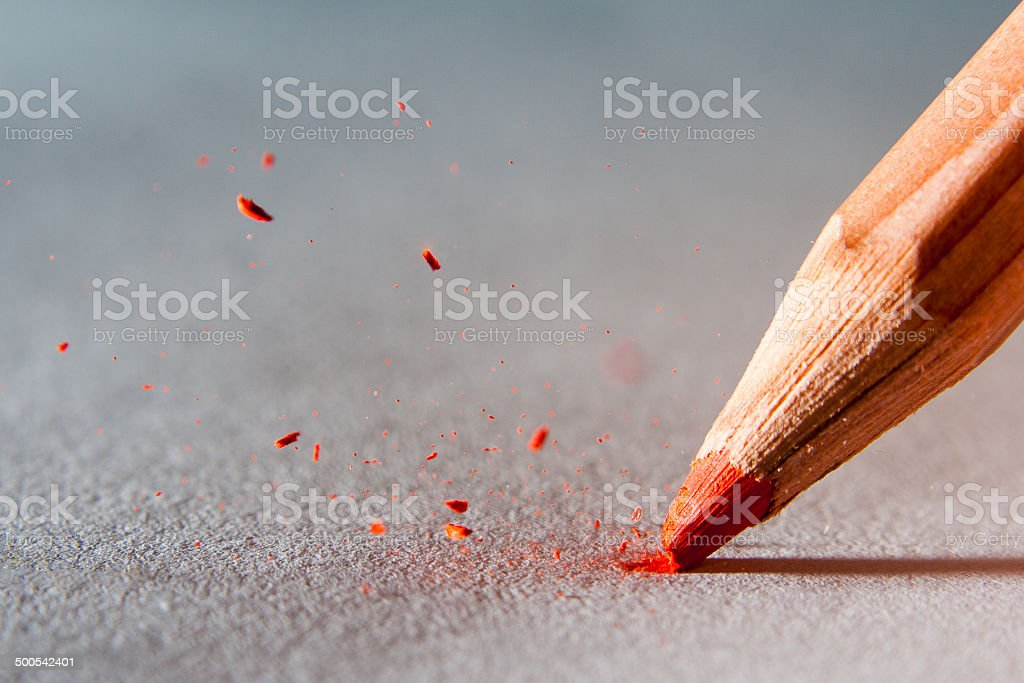 pencil head stock photo