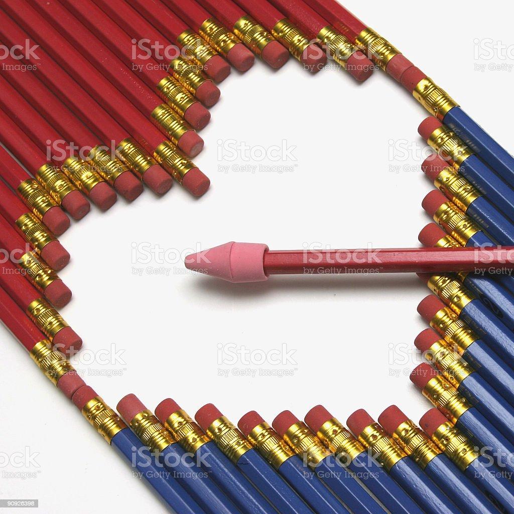 Pencil Heart royalty-free stock photo