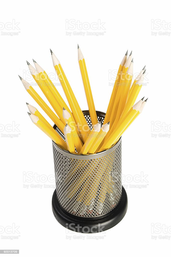 Pencil Holder royalty-free stock photo