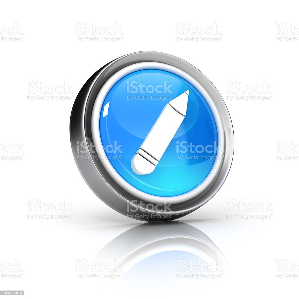 pencil icon royalty-free stock photo