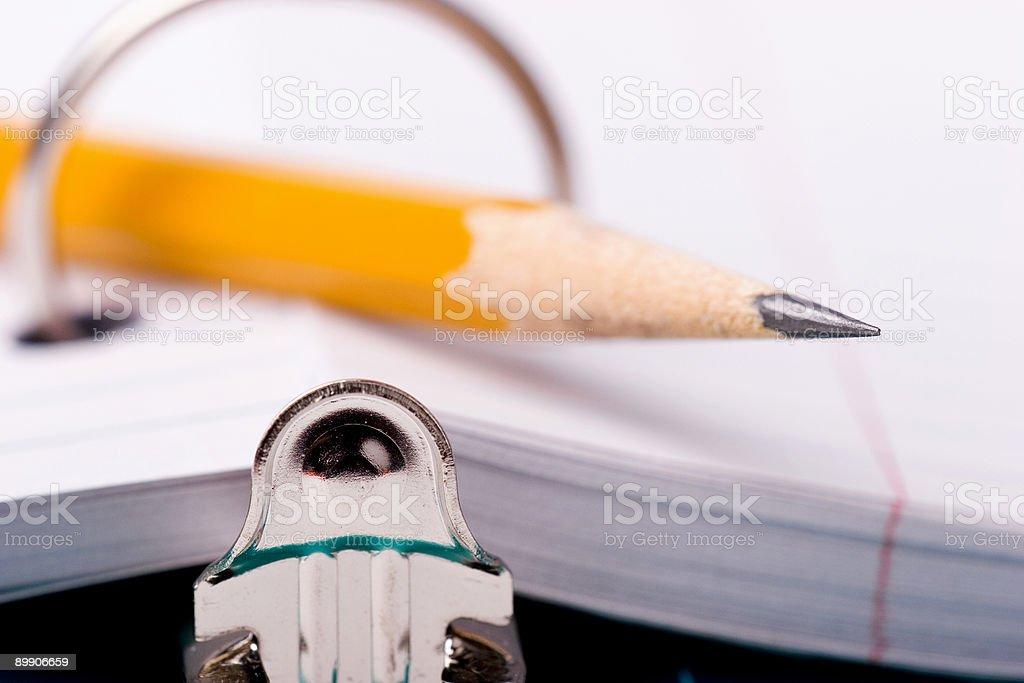 Карандаш в папке Стоковые фото Стоковая фотография