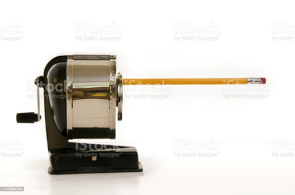 Pencil in Sharpener royalty-free stock photo