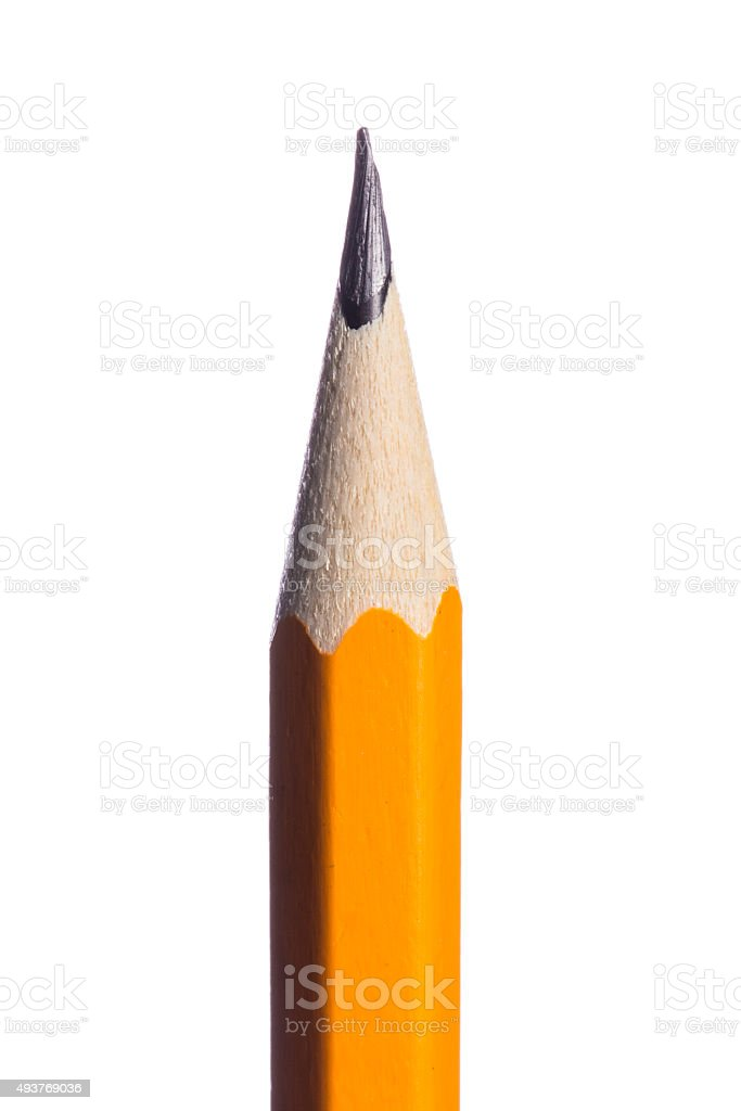 Pencil isolated on pure white background stock photo