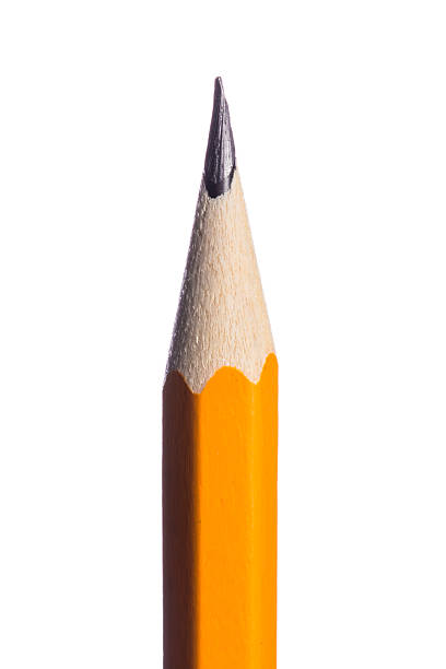 pencil isolated on pure white background - pencil stock photos and pictures