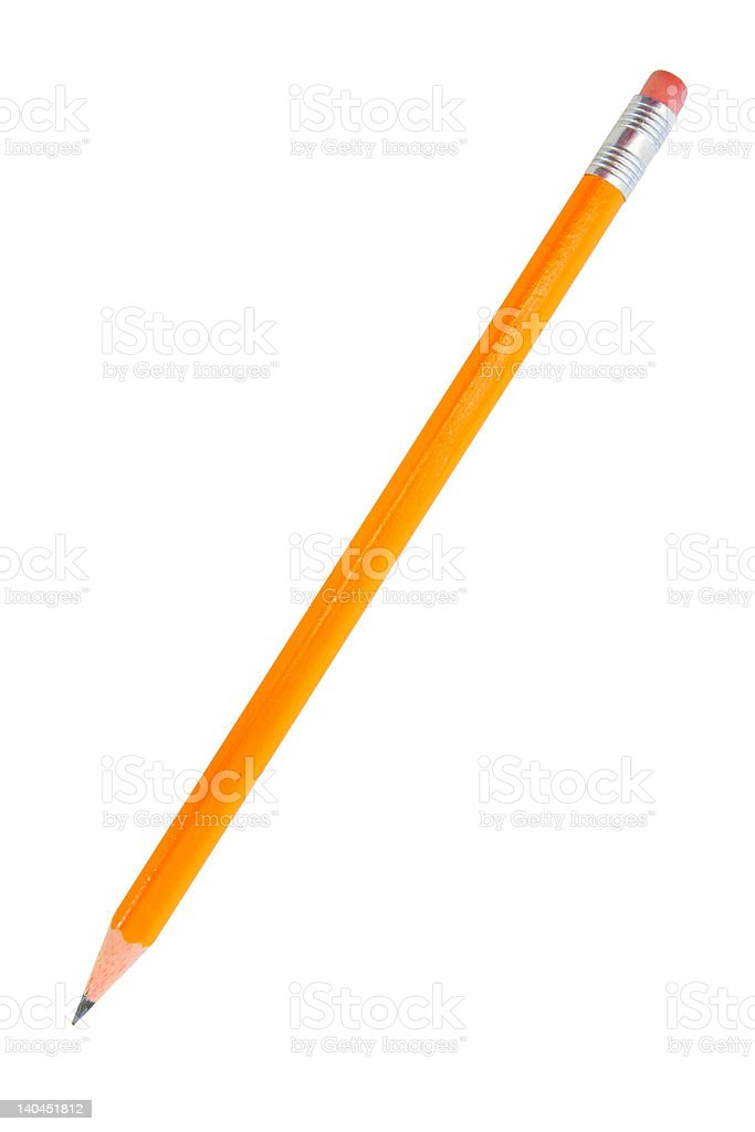 Pencil isolated on white stock photo
