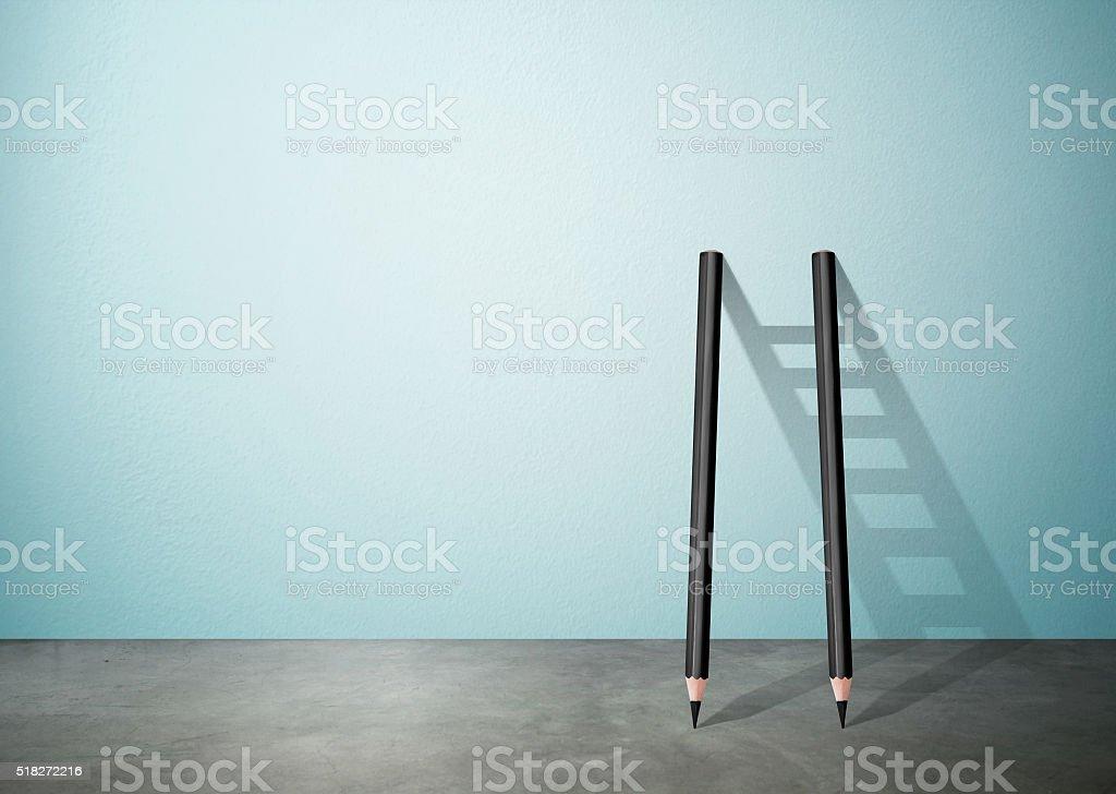 pencil Ladder stock photo
