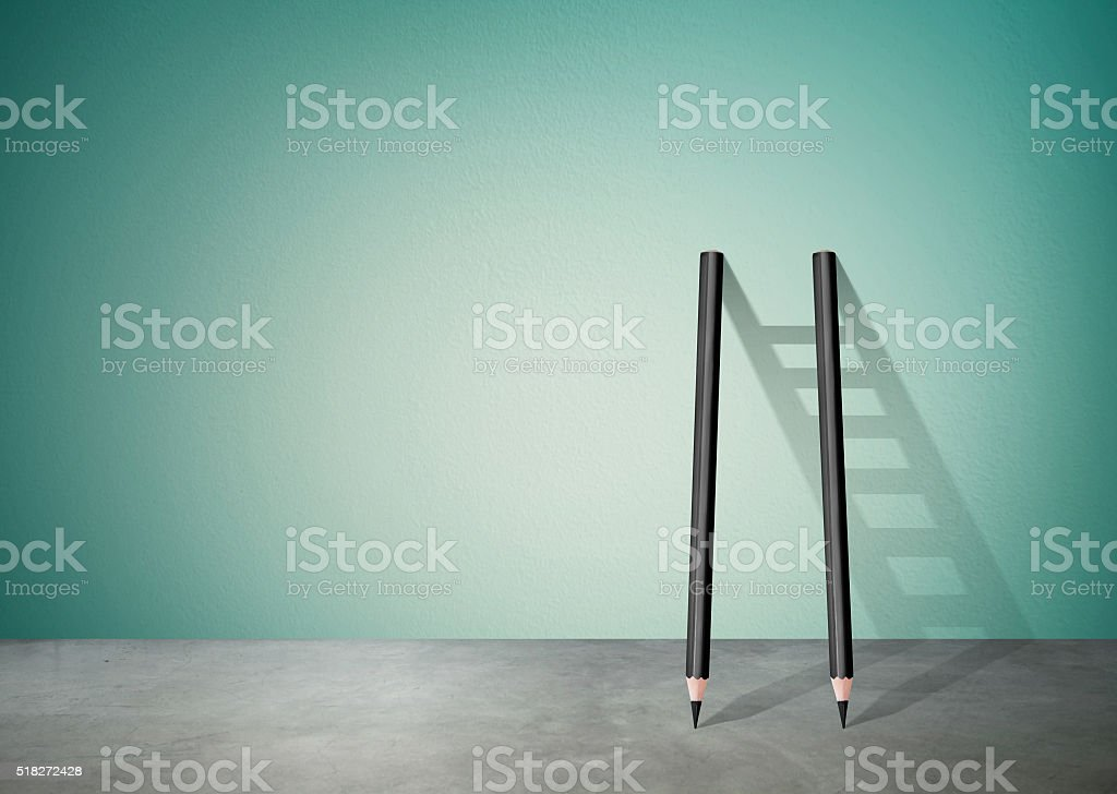 pencil Ladder stock photo