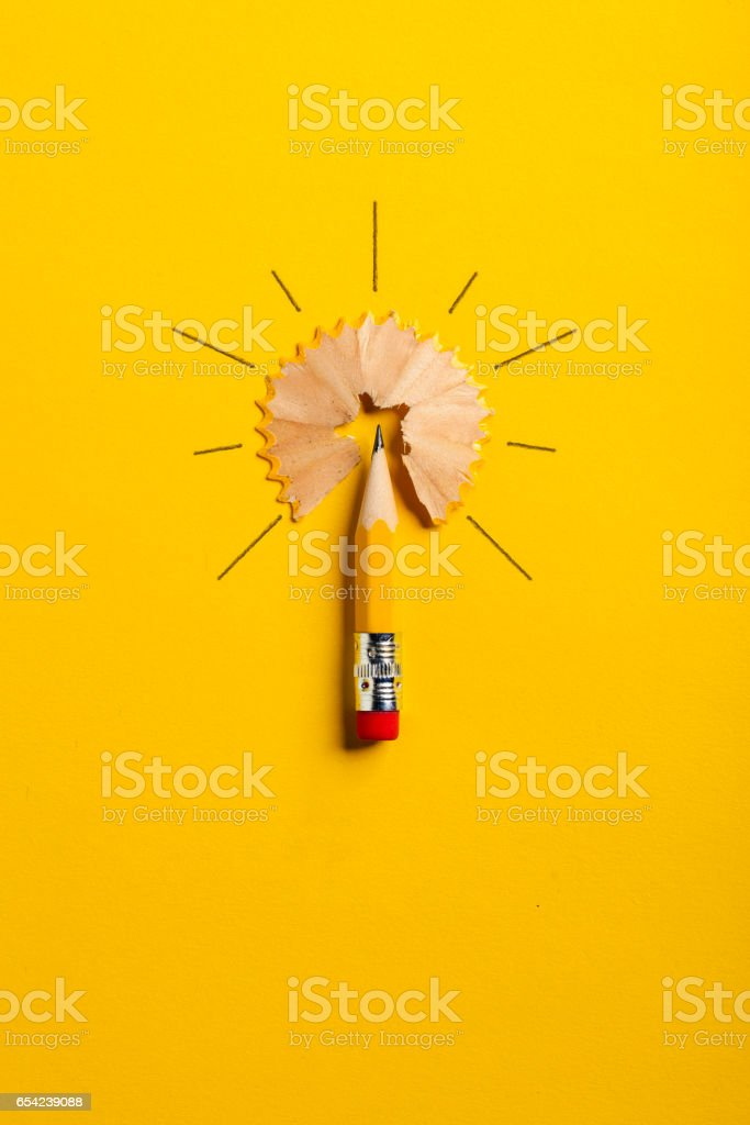 Pencil Light Bulb stock photo