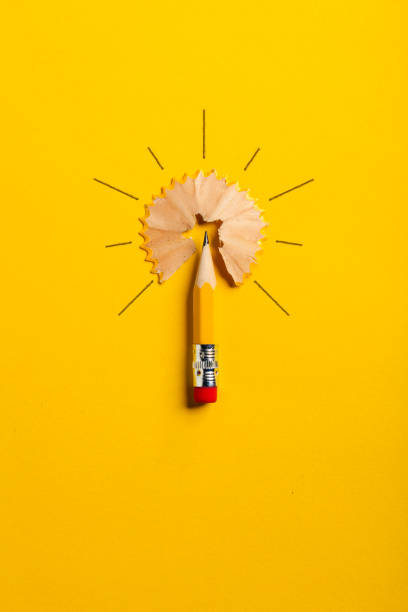 pencil light bulb - pencil stock photos and pictures
