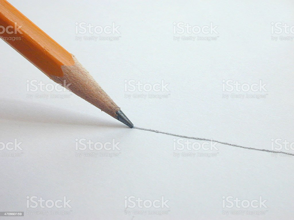 Pencil Line stock photo