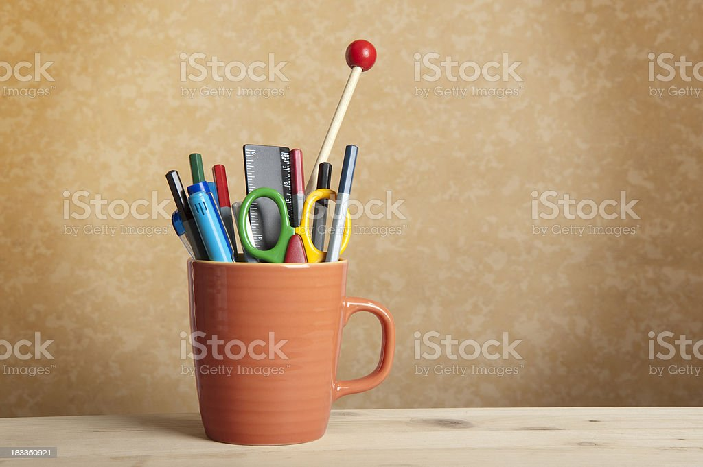 Pencil Mug stock photo