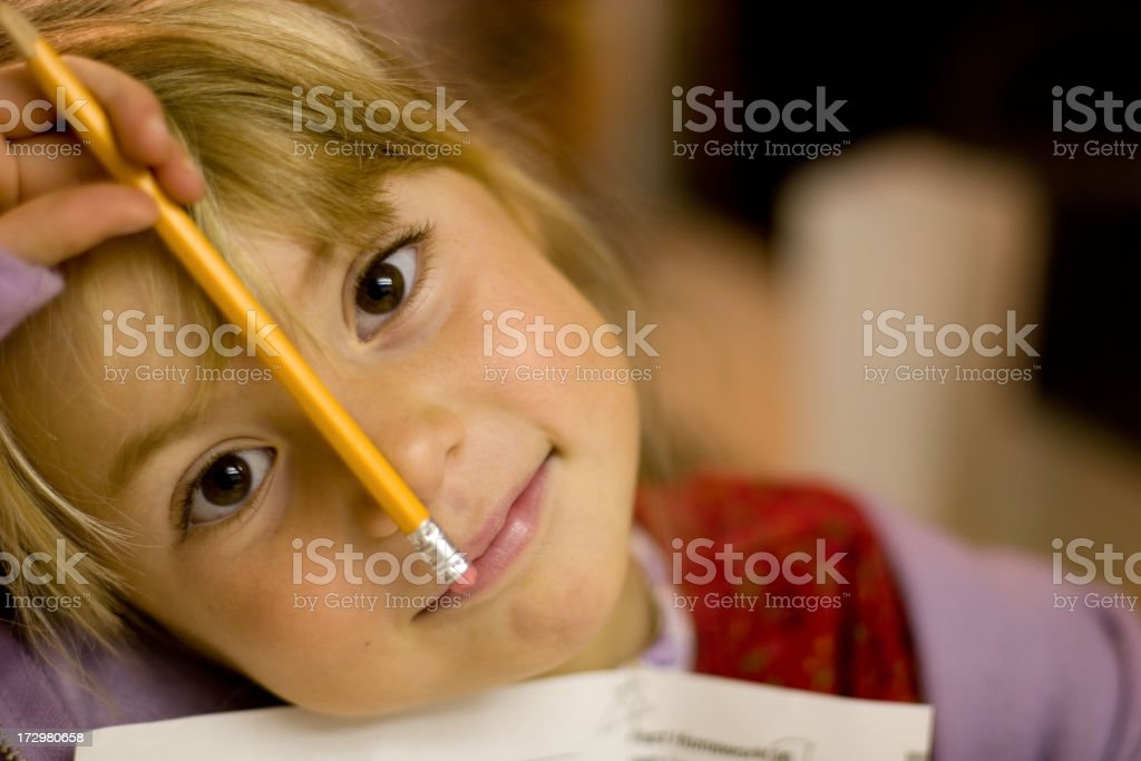 Pencil Nose royalty-free stock photo