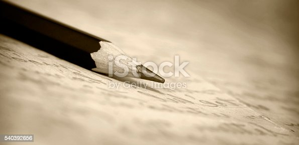 istock Pencil on paper banner 540392656