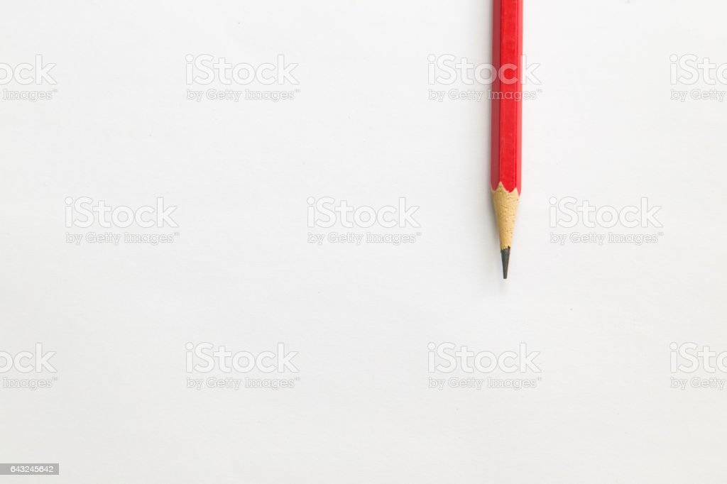 pencil on table, the blogger instrument stock photo