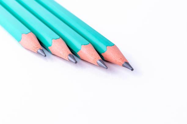 Bleistift auf weißem Hintergrund – Foto