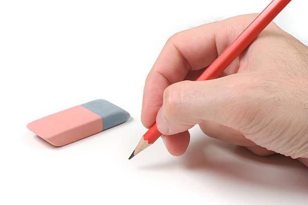 Pencil on White stock photo
