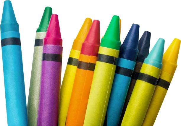 Crayon. Colorful Crayons - Isolated crayon stock pictures, royalty-free photos & images