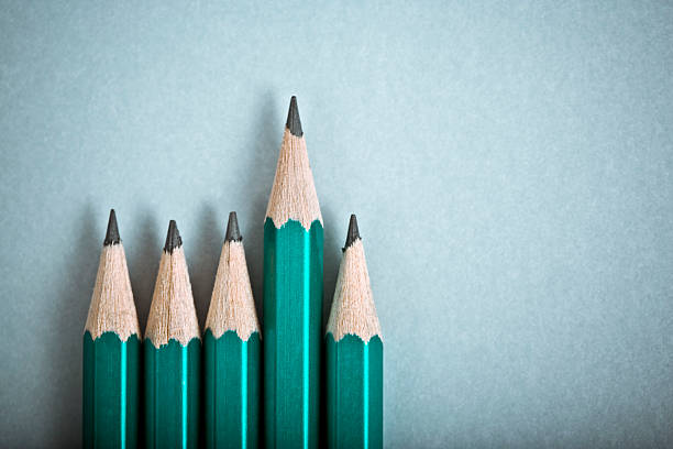 pencil - uneven stock photos and pictures