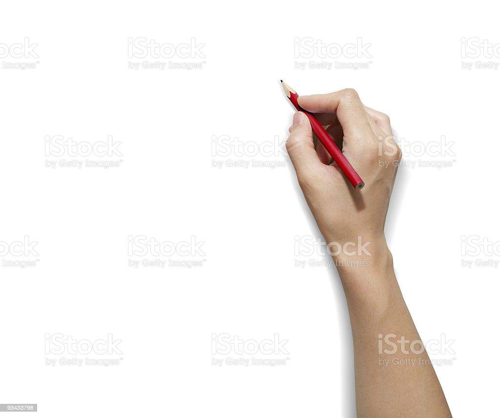 HAND Pencil royalty-free stock photo