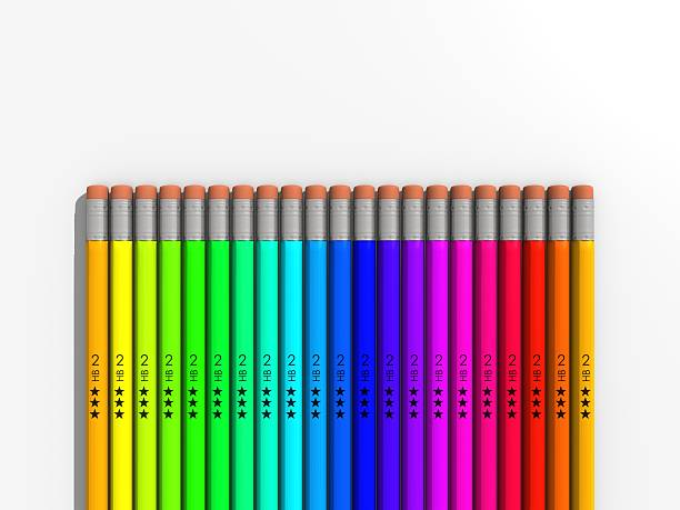 Pencil Rainbow stock photo