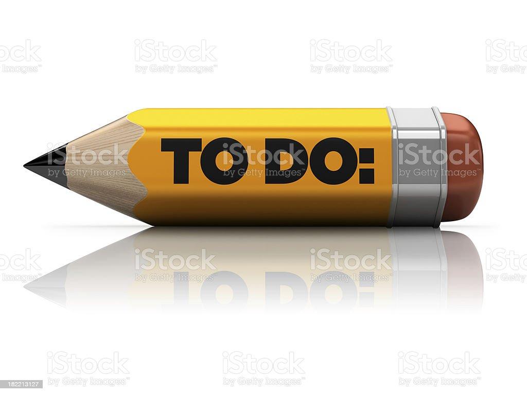 pencil reminder royalty-free stock photo