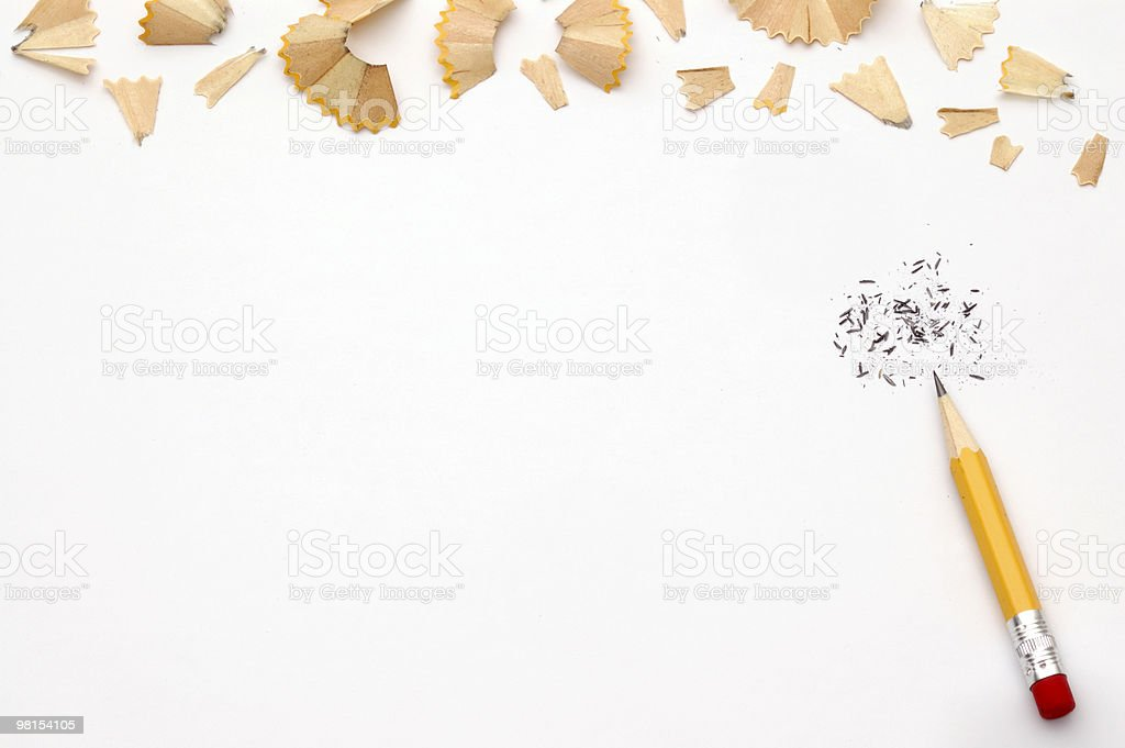 Pencil Shavings royalty-free stock photo
