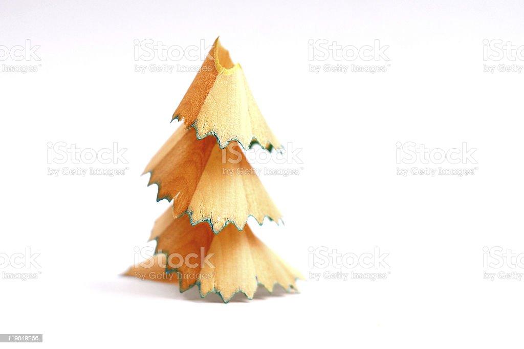 pencil shavings tree stock photo