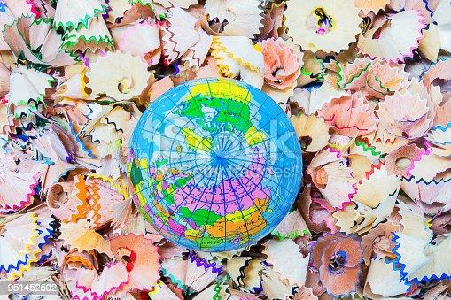 951081060 istock photo Pencil shells, Globe simulation 951452502