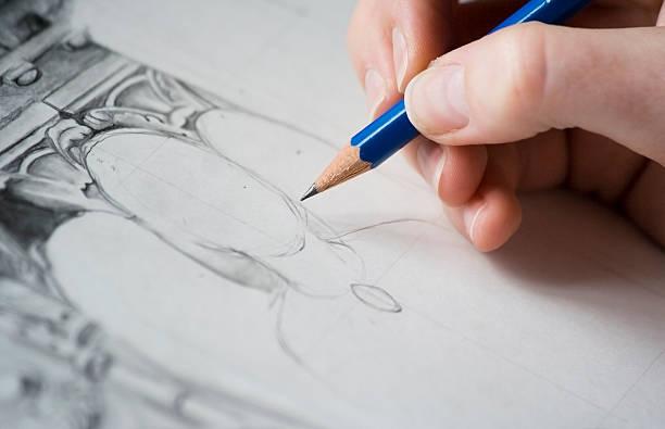 zeichnen - engel zeichnen stock-fotos und bilder