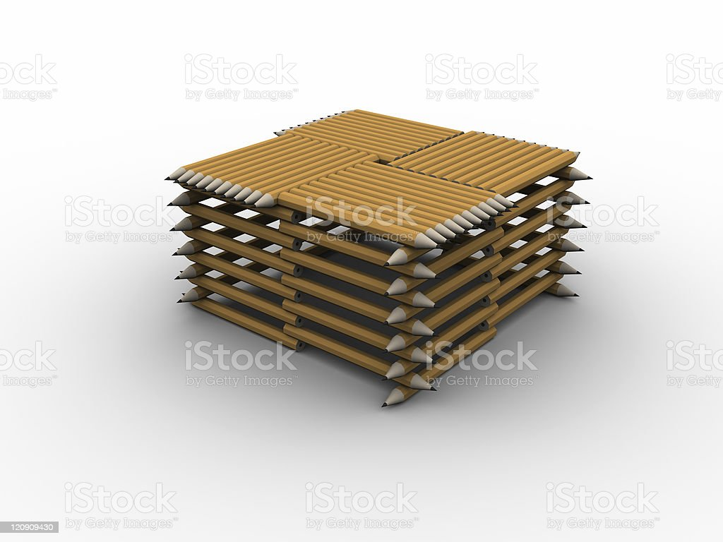 Pencil Stand stock photo