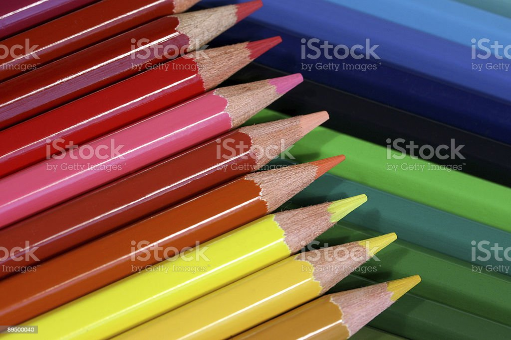Pencil Stripes stock photo