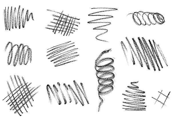 pencil stroke trace art craft stock photo