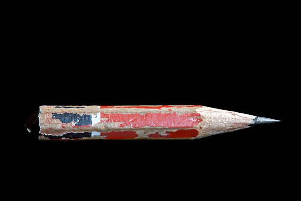 Bleistift-Kupon isoliert auf schwarzem Hintergrund – Foto