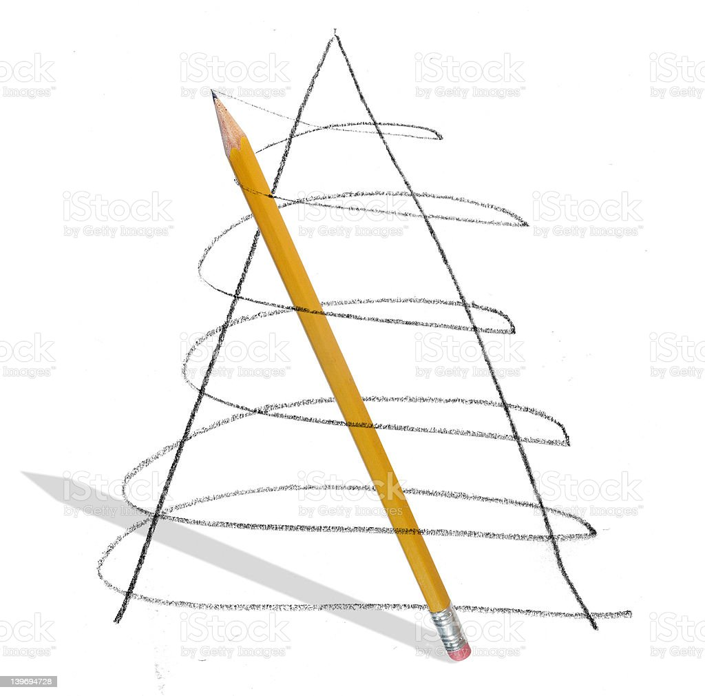 Pencil Sweep royalty-free stock photo