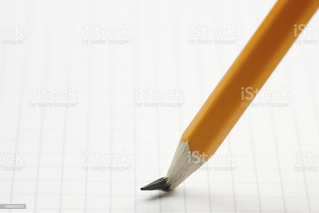pencil with broken point stock photo